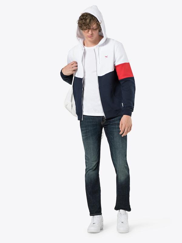 Iriedaily Veste Hoody' Zip 'court Survêtement BleuRouge Blanc En De NwkX80PnO