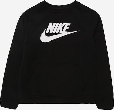 Nike Sportswear Sweatshirt 'B NSW CLUB + HBR CREW' in schwarz / weiß, Produktansicht