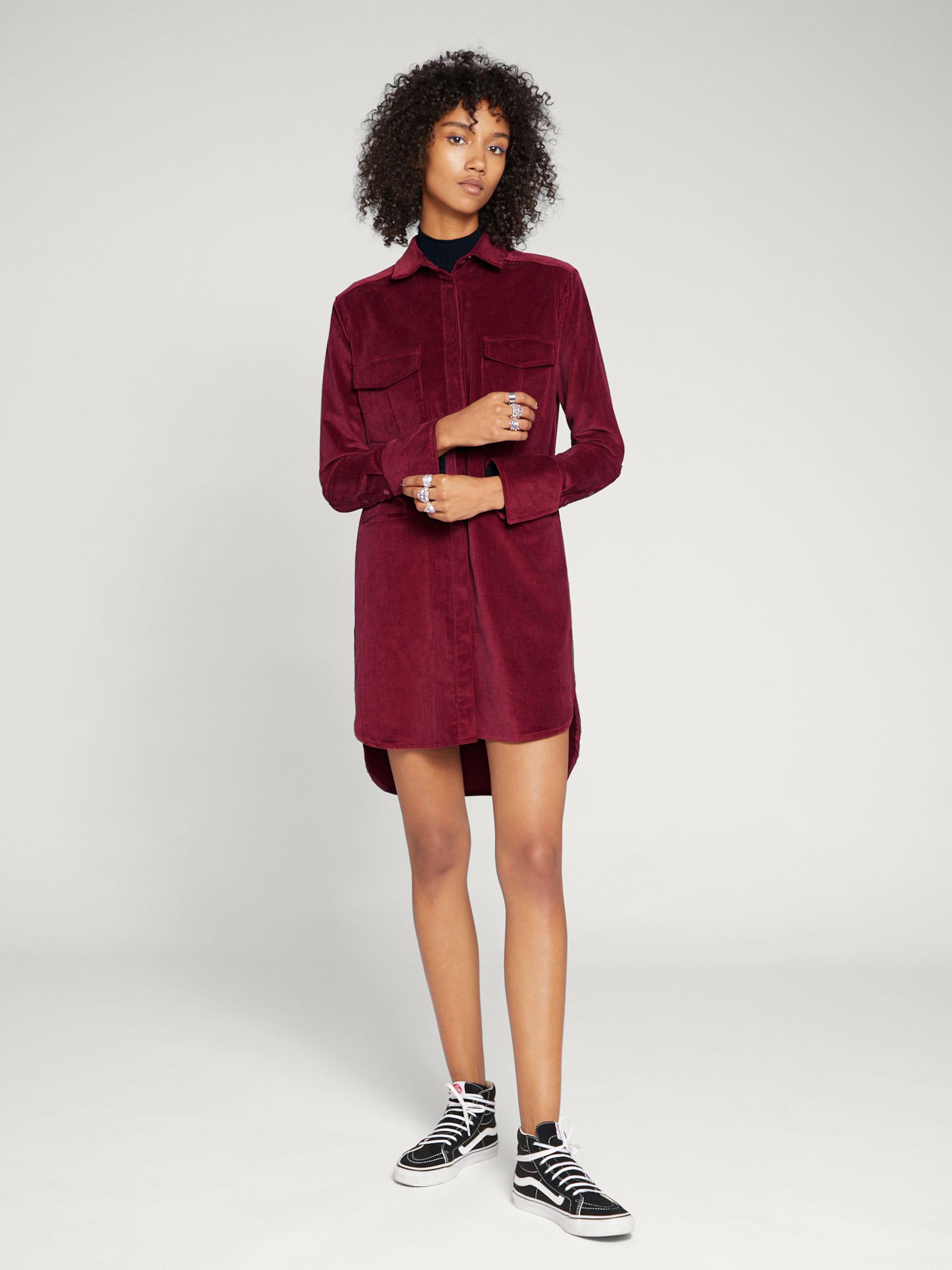 Robe 'fleur' chemise En Edited Bordeaux VpqUzSM
