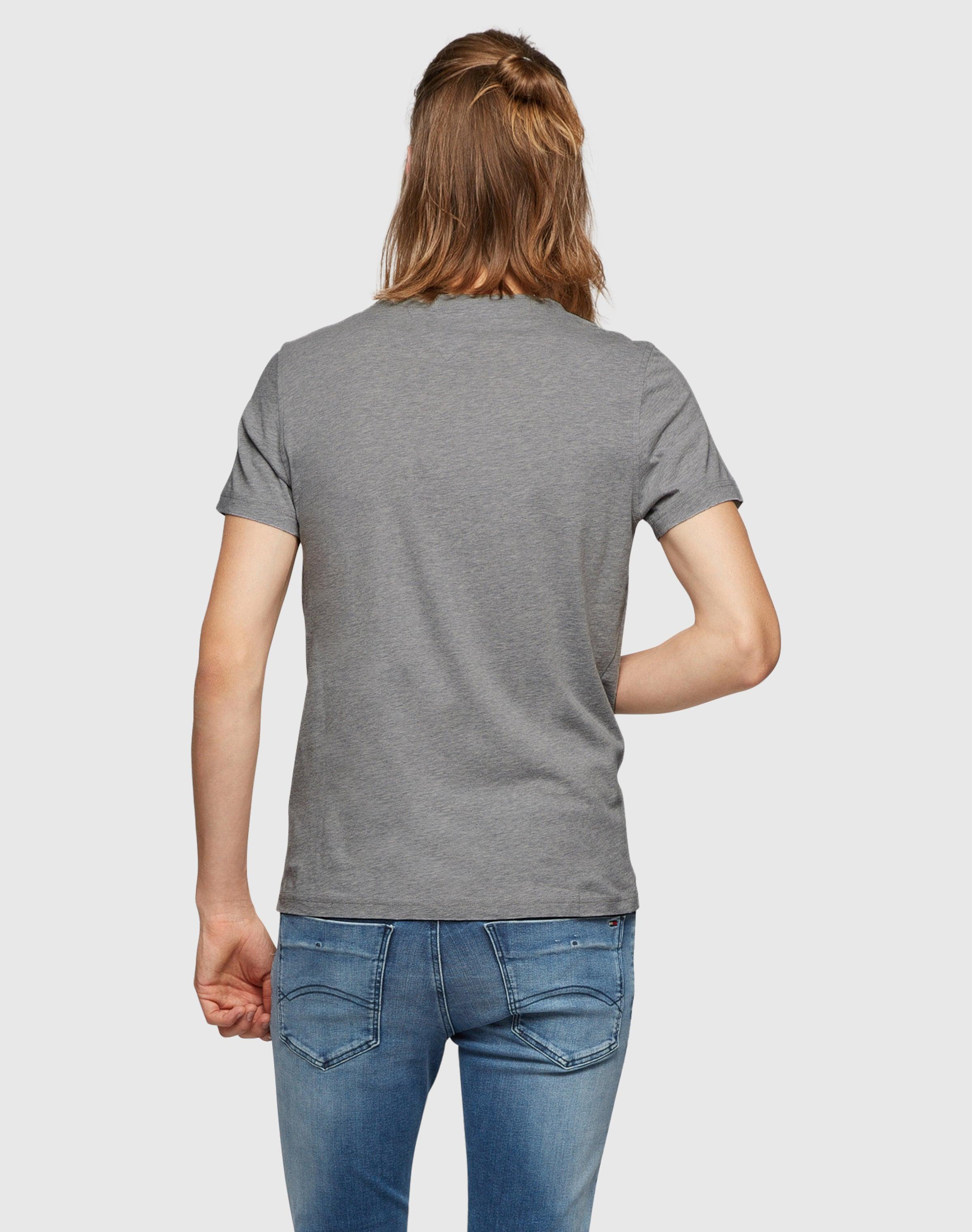 Freies Verschiffen Finish Tommy Jeans Basic-Shirt mit Label-Stickerei Komfortabel Zu Verkaufen Lk3vBoznZ