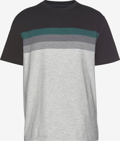 Man's World T-shirt in hellgrau / grün / schwarz / weiß, Produktansicht