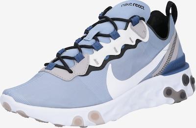 Nike Sportswear Baskets basses 'NIKE REACT 55' en bleu / blanc, Vue avec produit