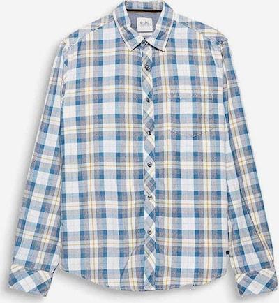 ESPRIT Hemd in blau / gelb / grau / offwhite, Produktansicht