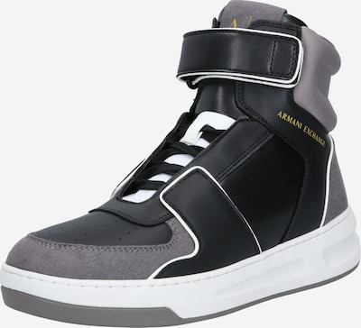 szürke / fekete ARMANI EXCHANGE Magas szárú edzőcipők, Termék nézet