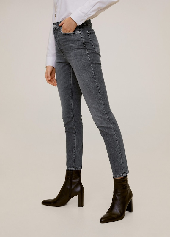 MANGO Jeans 'Gisele' in grey denim, Modelansicht