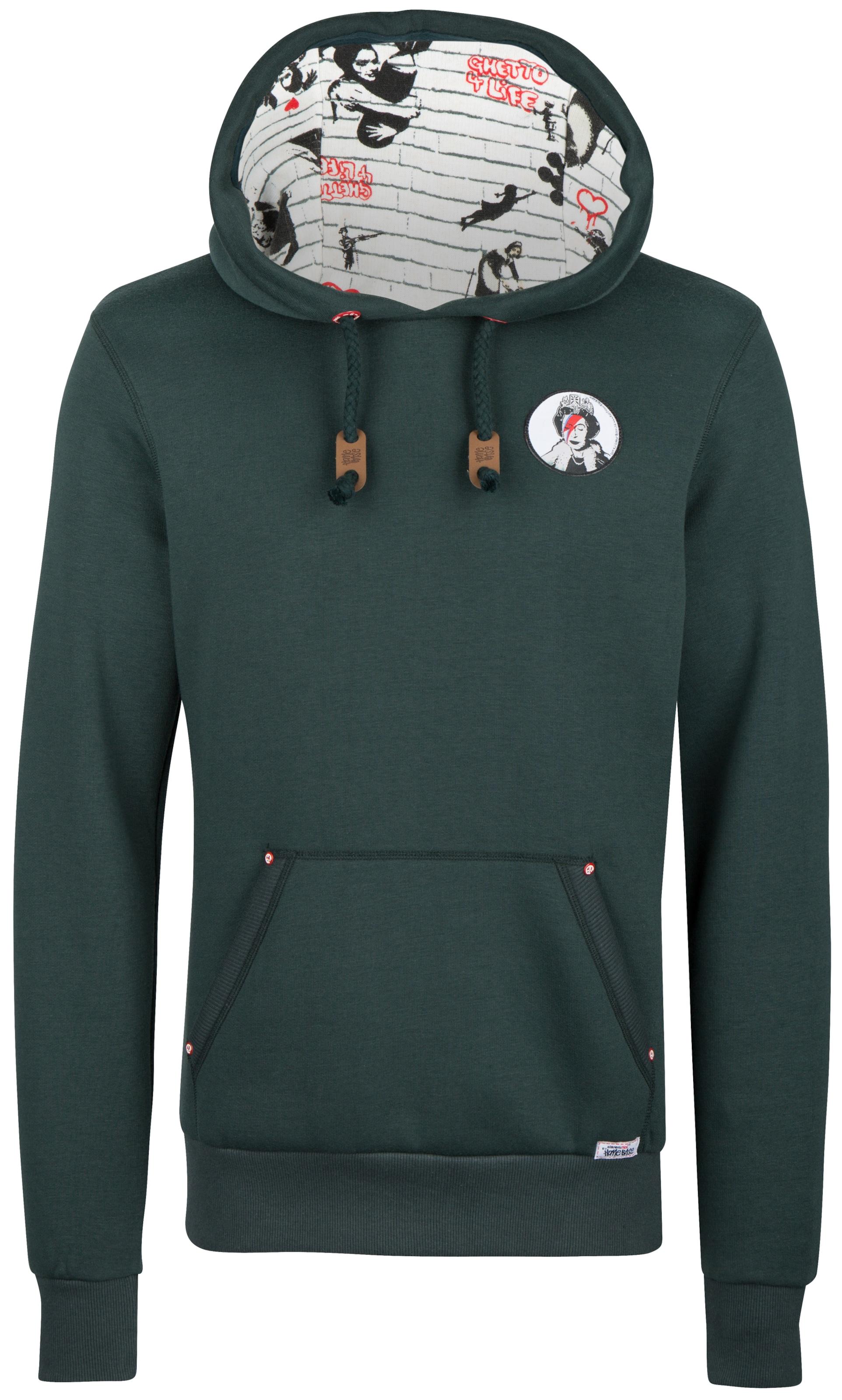 Weiß DunkelgrünRot Schwarz Homebase Sweatshirt In 67bgyYf