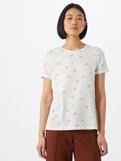 TOM TAILOR Shirt in mischfarben / weiß: Frontalansicht