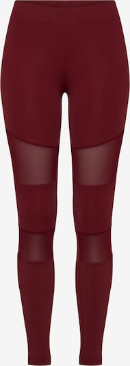 Urban Classics Leggings 'Ladies Tech Mech' en lie de vin, Vue avec produit
