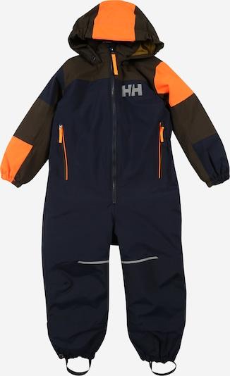 HELLY HANSEN Sportanzug 'Rider 2' in navy / braun / neonorange, Produktansicht