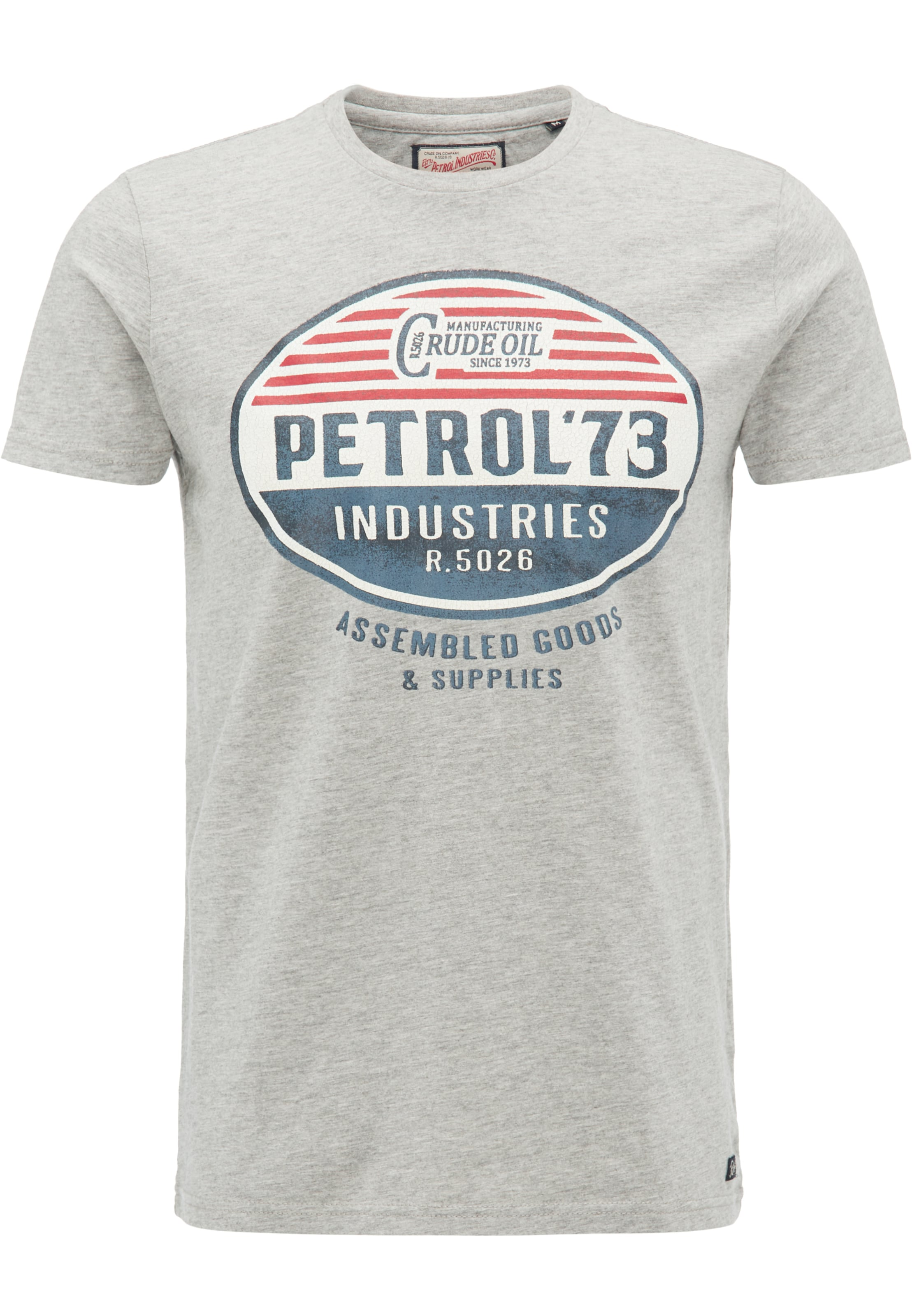 Industries shirt MarineGris Chiné Rouge Petrol En T f76ybYg