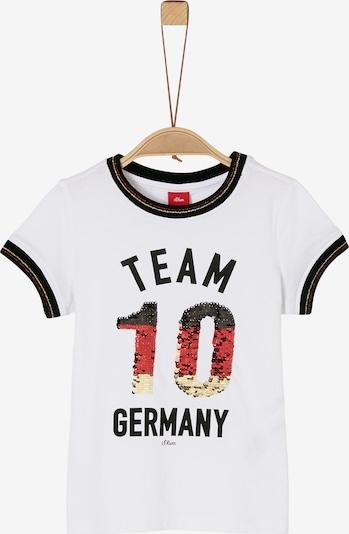 s.Oliver T-Shirt in schwarz / silber / weiß, Produktansicht