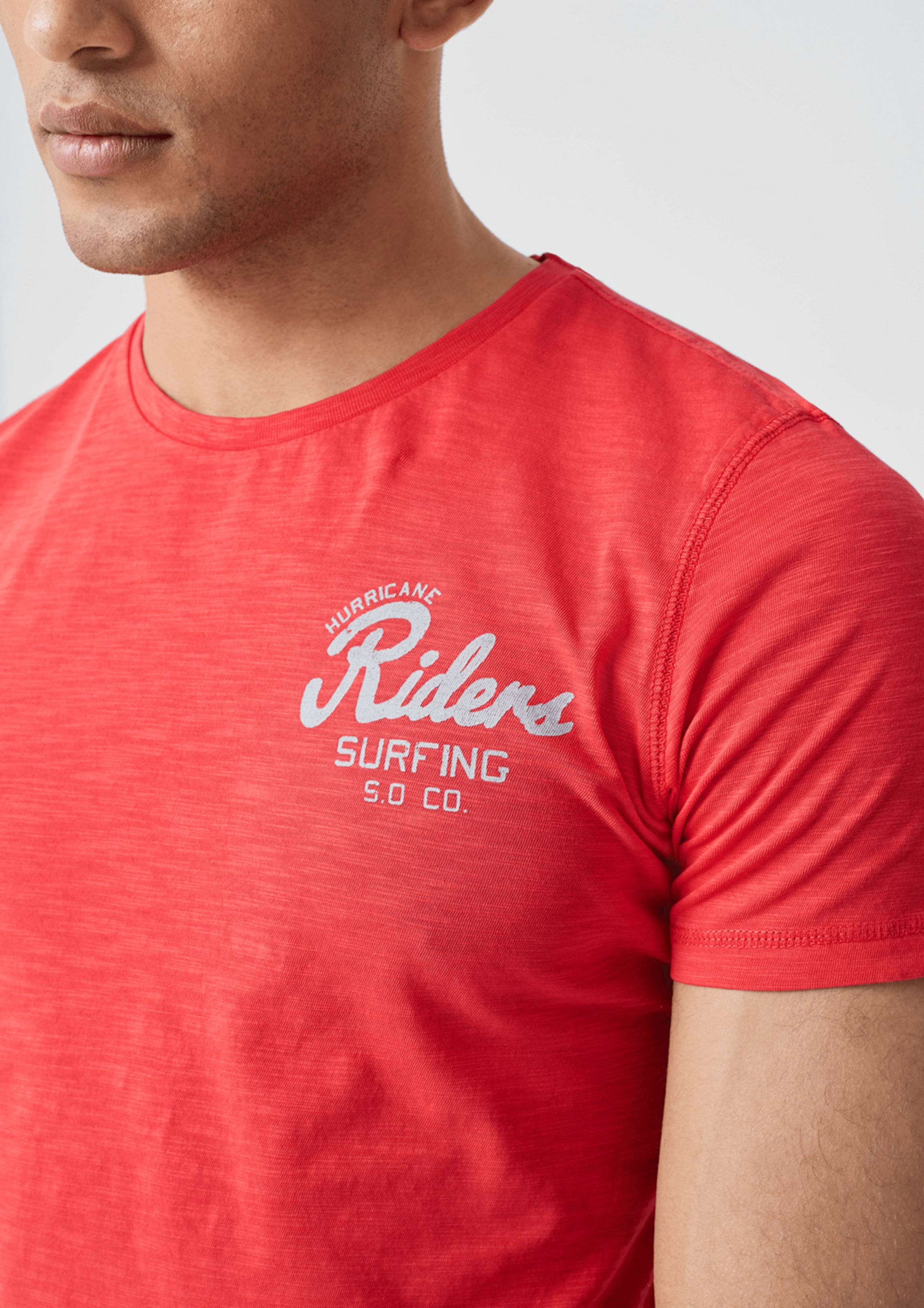 Label T shirt Red S Hellrot In oliver N0v8Omwn