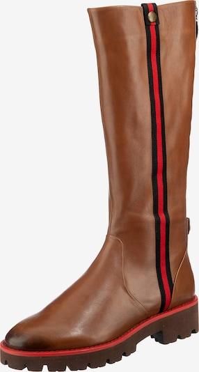 tizian Stiefel 'Dallas' in rostbraun / rot / schwarz, Produktansicht