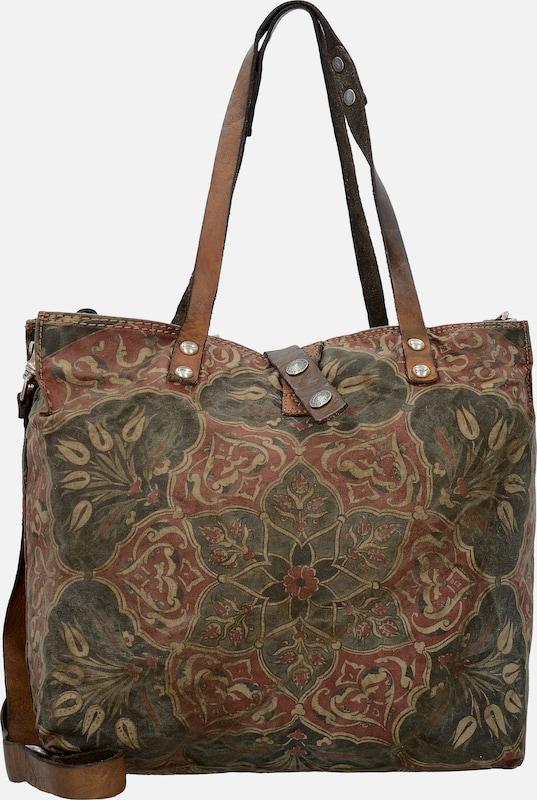 Campomaggi Traditional Gentian Shopper Pockets 30 Cm
