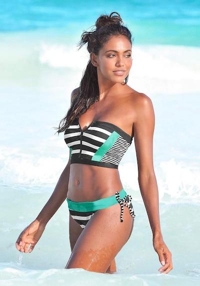 KangaROOS Bikinitop in de kleur Jade groen / Zwart / Wit, Modelweergave