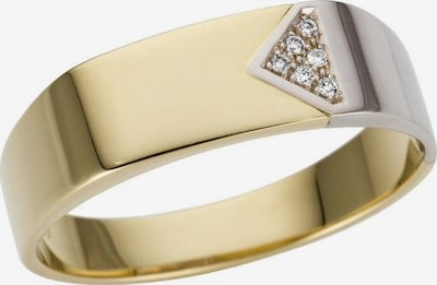 FIRETTI Goldring 'Glanz, massiv' in gold / silber, Produktansicht