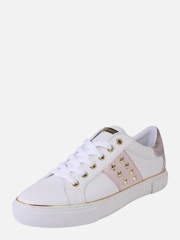 GUESS Sneakers laag 'Gamer5' in Pink Wit | ABOUT YOU