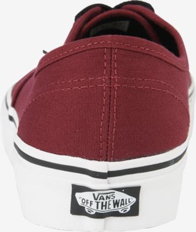 VANS Sneaker 'Authentic' in bordeaux: Rückansicht