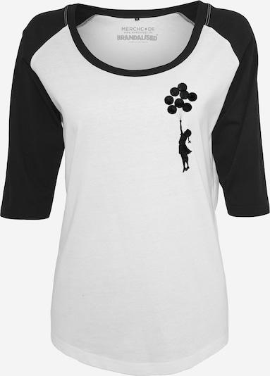 Merchcode T-Shirt 'Banksy Balloons' in schwarz / weiß, Produktansicht