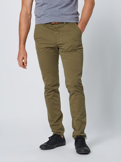 TOM TAILOR DENIM Chinohose in oliv, Modelansicht