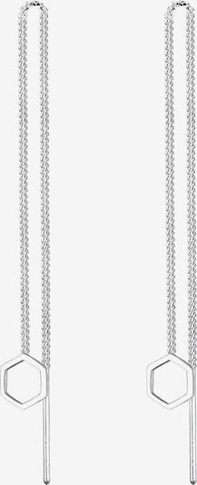 ELLI Ohrringe 'Hexagon' in silber, Produktansicht
