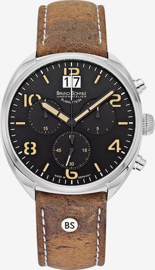 Bruno Söhnle Uhr in braun / schwarz / silber, Produktansicht