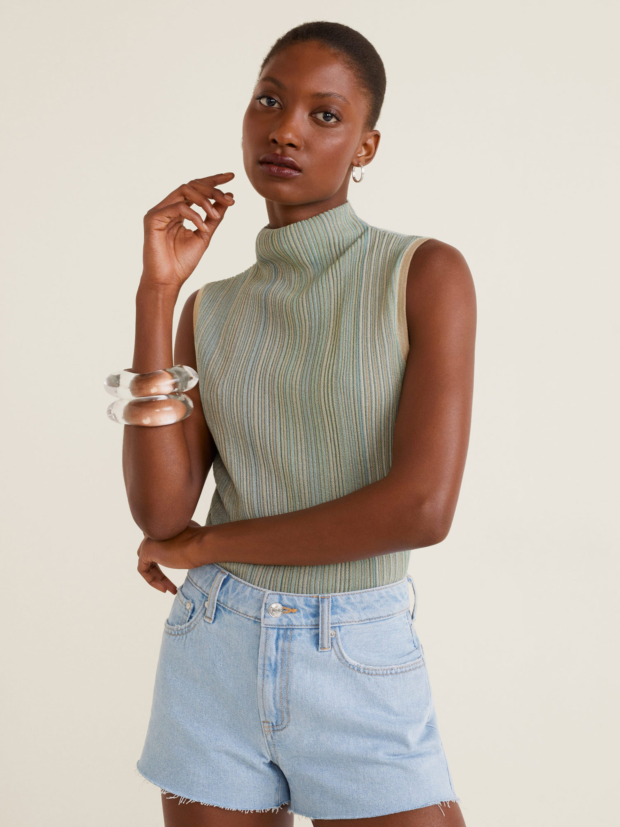 'iconic' Shorts Blue In Denim Mango m0yON8wnv