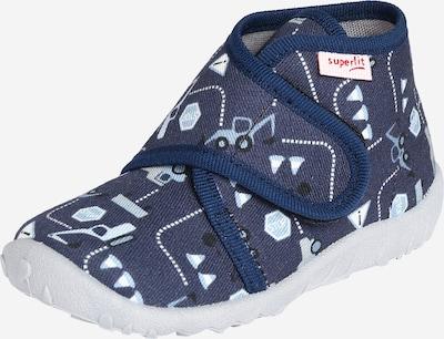 SUPERFIT Mājas apavi 'SPOTTY' pieejami opālisks / tumši zils / melns / balts, Preces skats