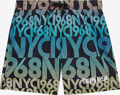 Calvin Klein Jeans Shorts 'Intense Power' in blau / grün / rosa / schwarz, Produktansicht