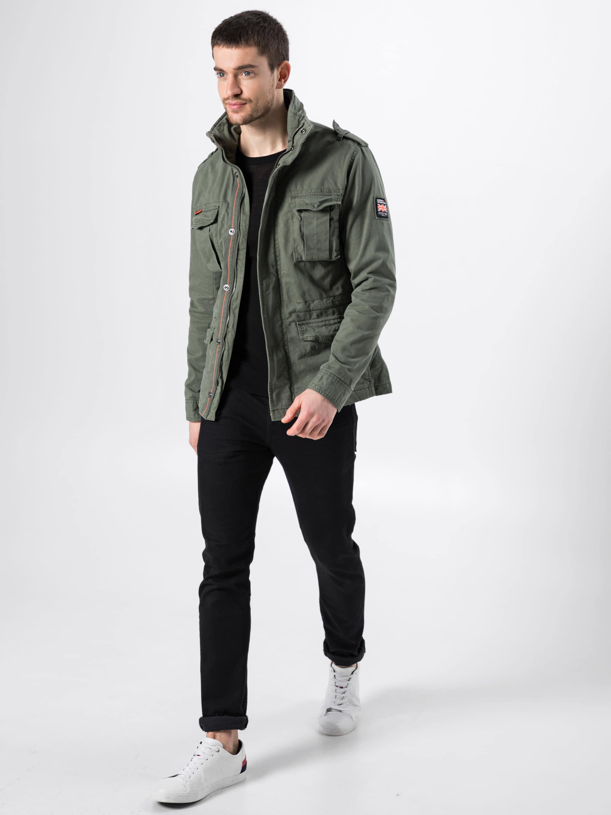 Kaki Pkt 'classic 4 Rookie En Superdry Veste saison Mi Jkt' pSUMzV