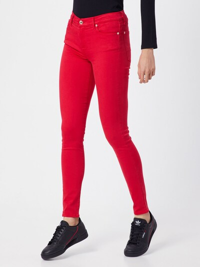 7 for all mankind Jeans 'THE SKINNY COLORED SLIM ILLUSION' in feuerrot, Modelansicht