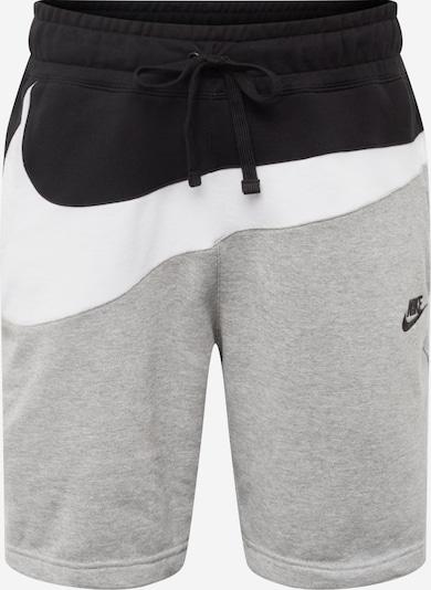 Nike Sportswear Pantalon en gris / noir / blanc, Vue avec produit