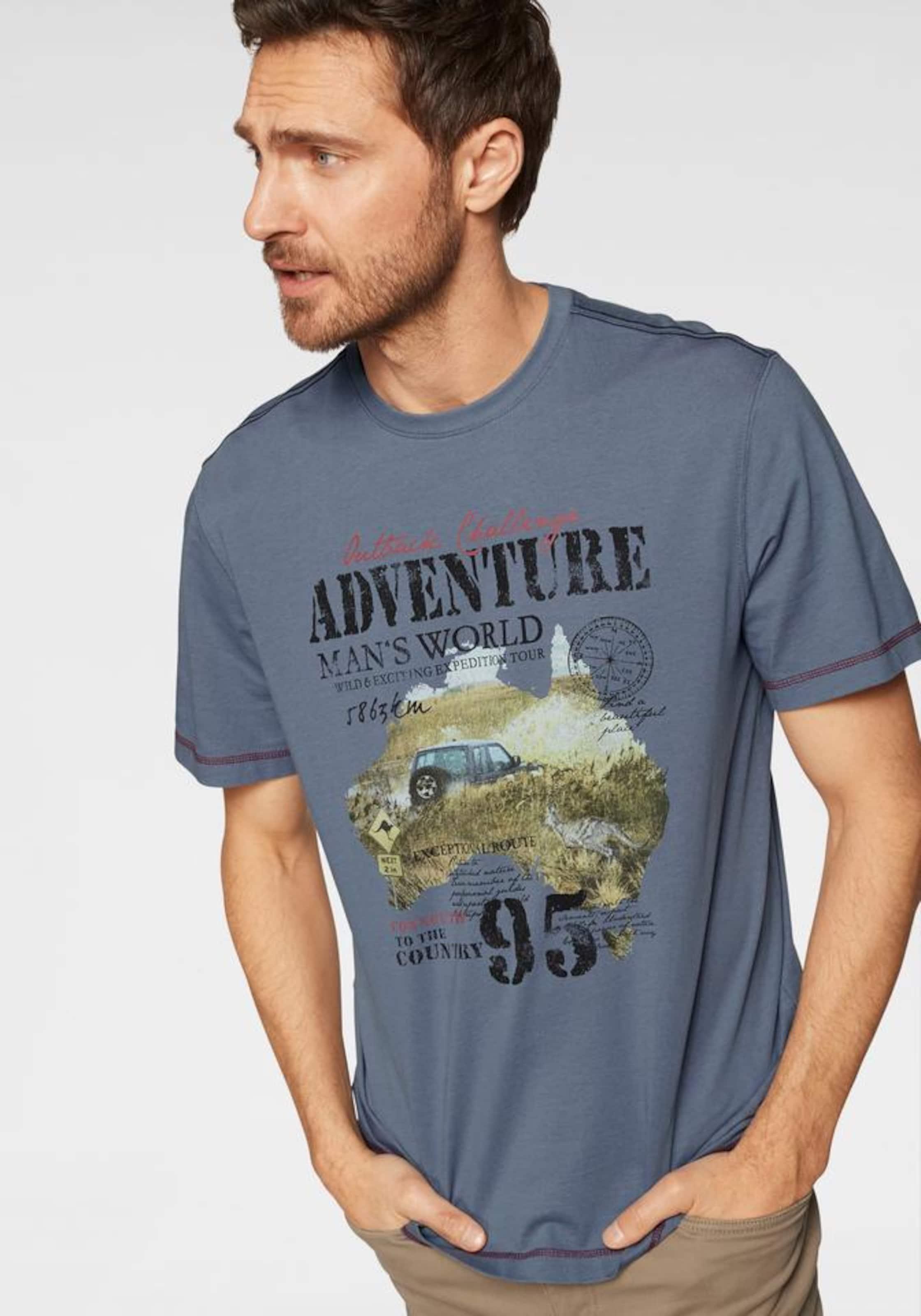 shirt World In Man's TaubenblauMischfarben T wP8XOn0k