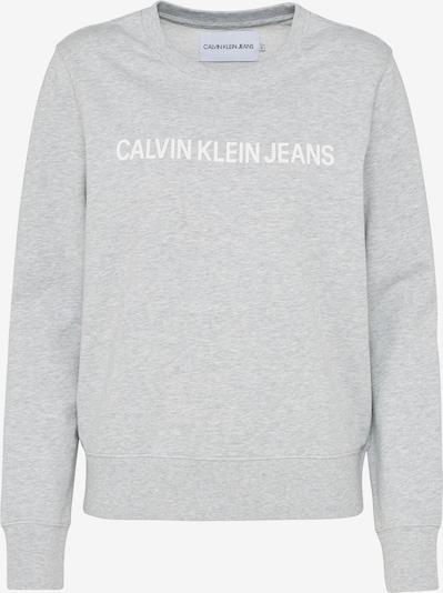 Calvin Klein Jeans Majica | pegasto siva / bela barva, Prikaz izdelka