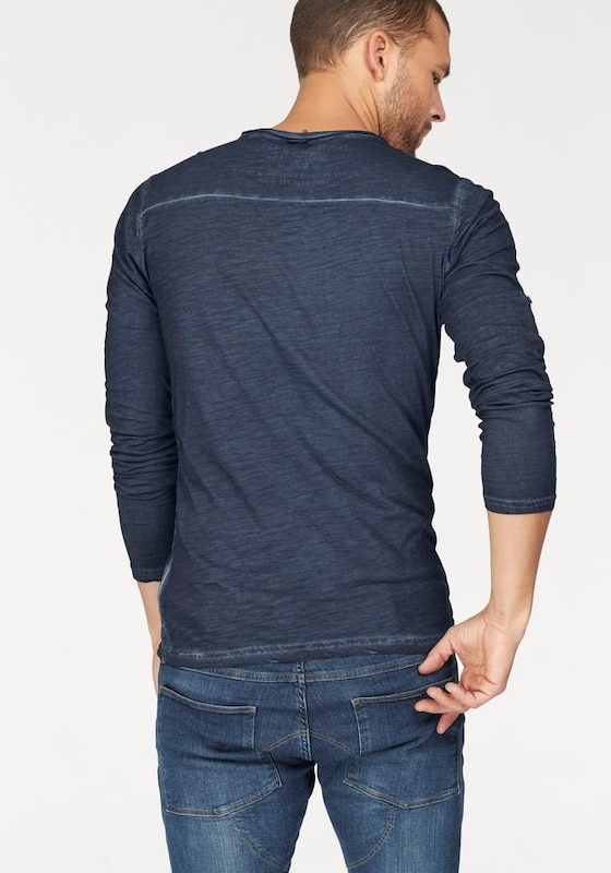 Key Largo Henleyshirt 'PEPPER'
