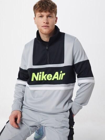 Nike Sportswear Sweatshirts 'Nike Air' in grau / schwarz, Modelansicht