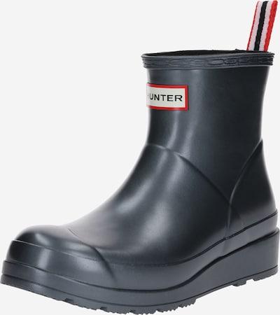 HUNTER Gummistøvler i sort / sølv, Produktvisning