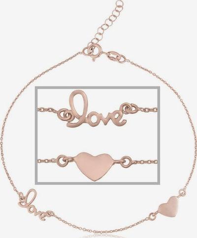 FIRETTI Fußkette 'Herz' in rosegold, Produktansicht