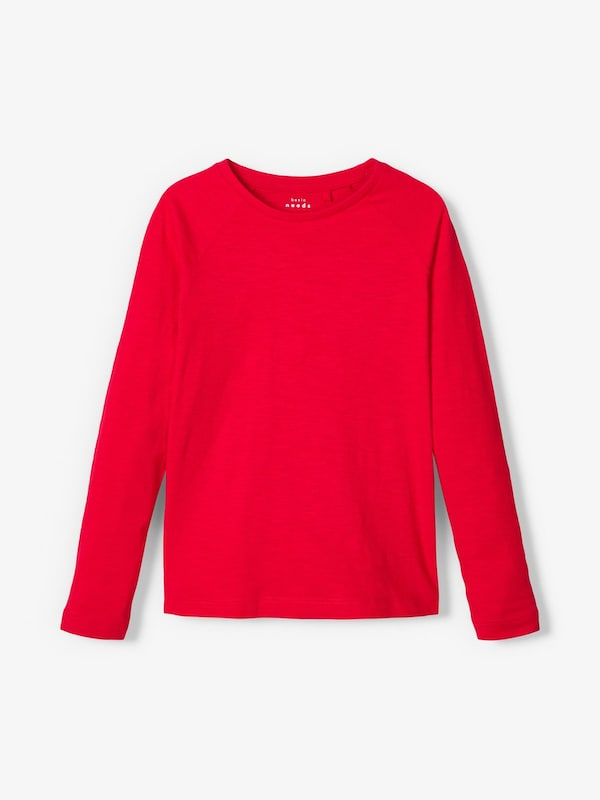 NAME IT Longsleeve in navy / grau / rot: Frontalansicht