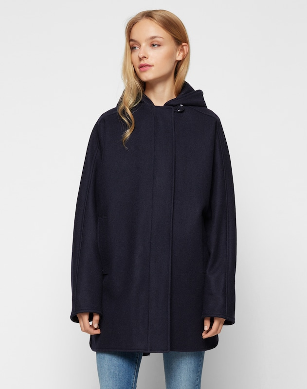 sessun Wollmantel 'Nana' in navy, Modelansicht