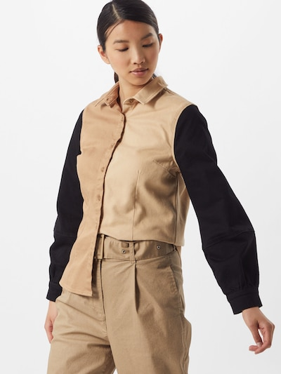 NU-IN Bluse in braun / schwarz, Modelansicht