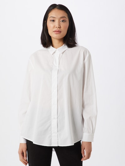 Samsoe Samsoe Chemisier en blanc, Vue avec modèle