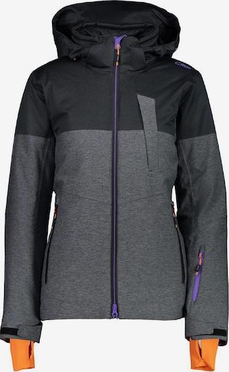 CMP Jacke in anthrazit / graumeliert / neonlila / orange, Produktansicht