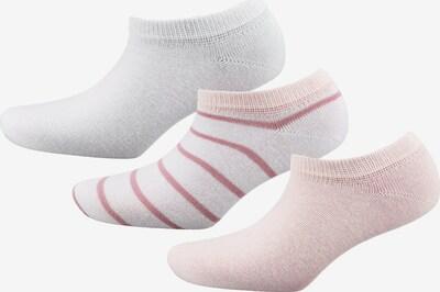 TOM TAILOR 3er Pack  Sneakersocken in pink / weiß, Produktansicht