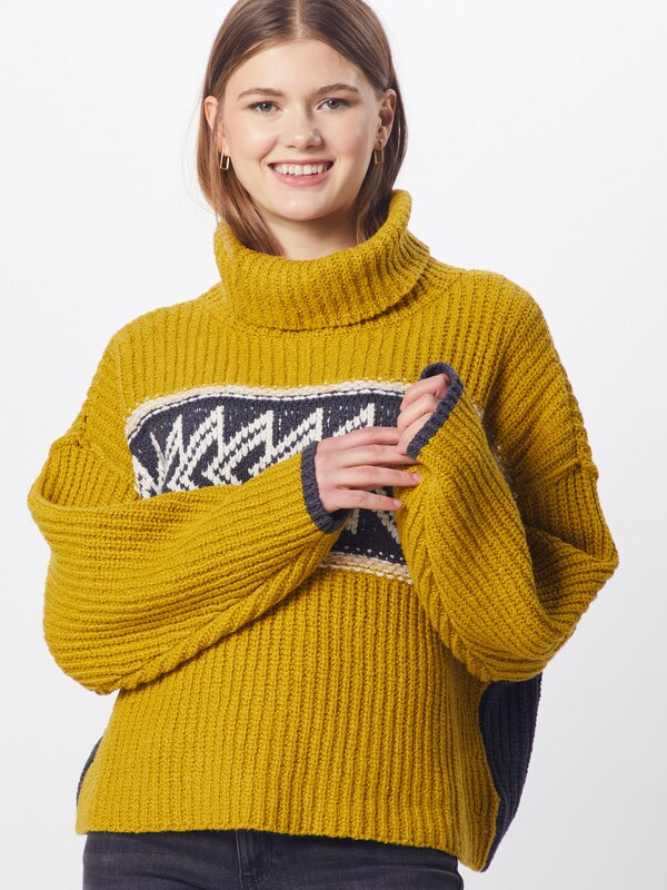 Free People Pullover 'GREATER THAN SWEATER' in gelb, Modelansicht