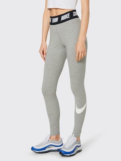 Nike Sportswear Leggings in grau / schwarz / weiß, Modelansicht