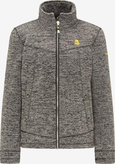 Schmuddelwedda Fleece jas in de kleur Zwart gemêleerd, Productweergave