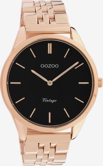 OOZOO Uhr 'C9989' in rosegold / schwarz, Produktansicht