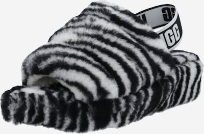 UGG Sandale 'FLUFF YEAH SLIDE ZEBRA' u crna / bijela, Pregled proizvoda
