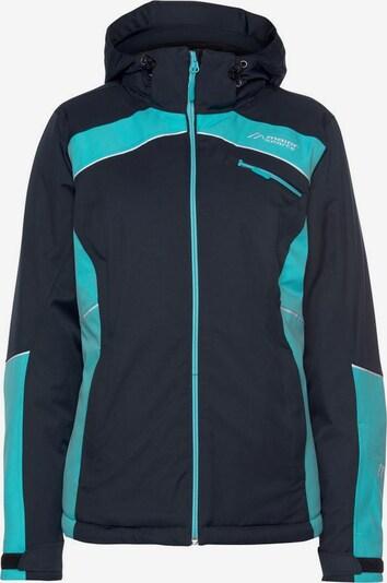 Maier Sports Jacke in marine / türkis / weiß, Produktansicht